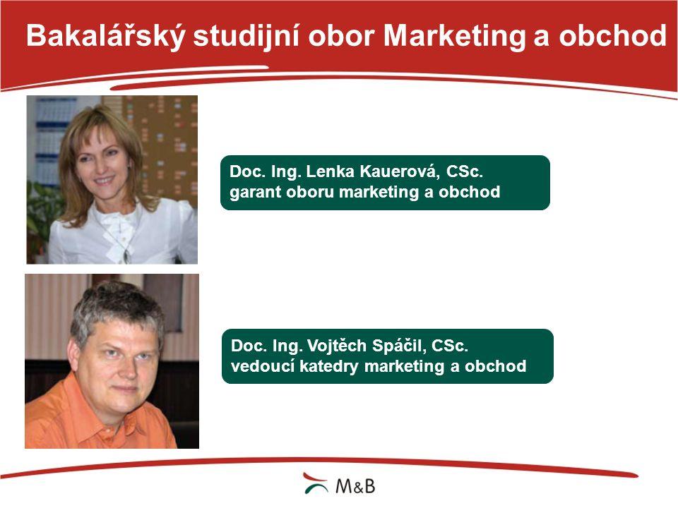 Doc. Ing. Lenka Kauerová, CSc. garant oboru marketing a obchod Doc. Ing. Vojtěch Spáčil, CSc. vedoucí katedry marketing a obchod
