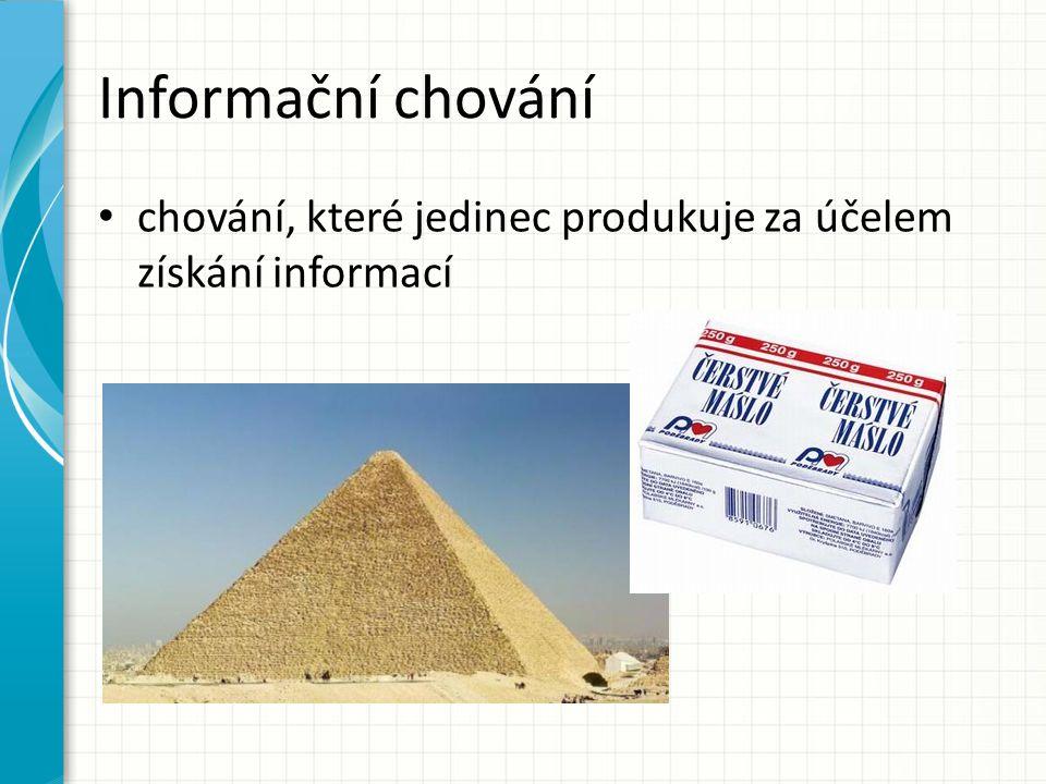 Informační chování chování, které jedinec produkuje za účelem získání informací