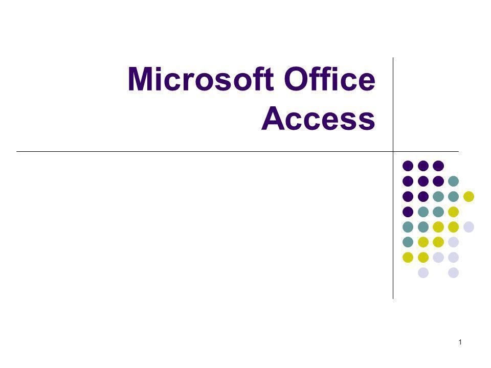 1 Microsoft Office Access