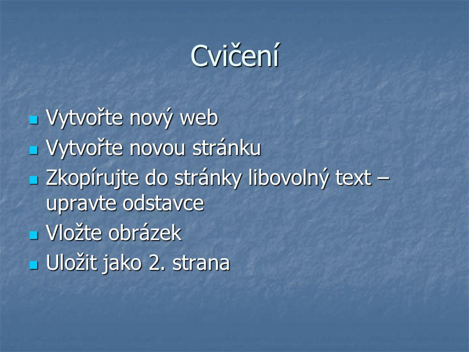 Odkaz na jiný soubor – stranu na jiný soubor – stranu na text – rozbalí se text pod odkazem na text – rozbalí se text pod odkazem na web stránku na web stránku na email na email Do bloku text – na něm pravé tlačítko myši - Hyperlink – Text k odkazu, straně, na kterou odkaz vytvářím – Save as - Preview Do bloku text – na něm pravé tlačítko myši - Hyperlink – Text k odkazu, straně, na kterou odkaz vytvářím – Save as - Preview