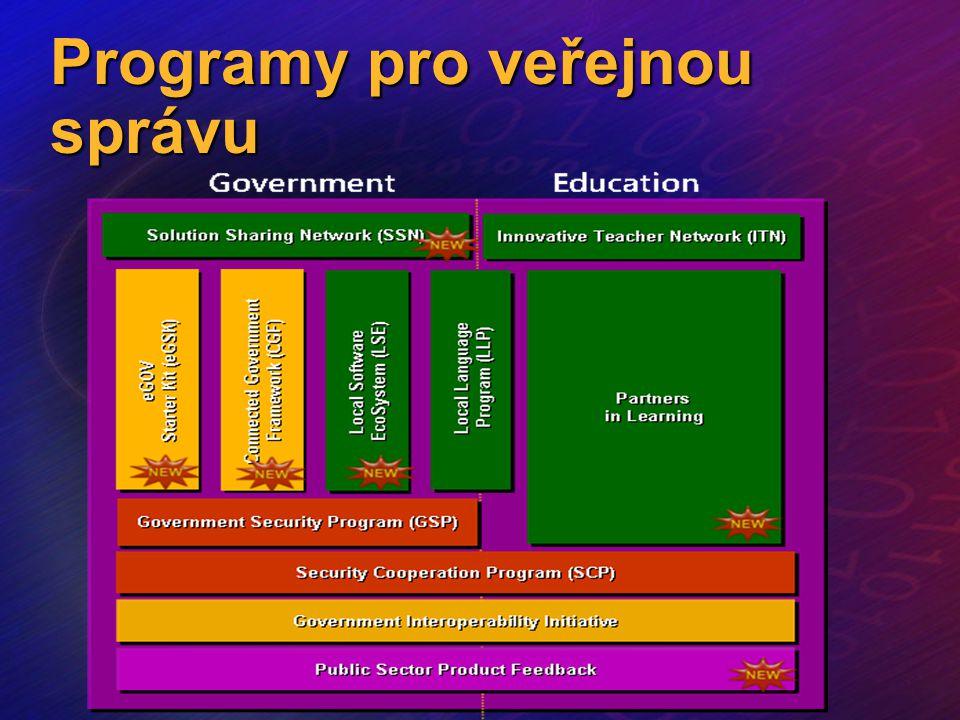 Závěr Microsoft podporuje výuku na všech stupních škol - PiL Výhodné licencování produktů - Plánování snižuje výdaje a zaručuje legálnost Rozsáhlá síť partnerů zaručuje řešení a pomoc kdekoli v České republice Široce rozšířená řešení založená na standardních produktech - snížení ceny, zrychlení realizace Možnost zahrnout do řešení i organizace jejichž jste zřizovatelem - školy i nemocnice www.microsoft.com/cze/education/ http://www.stic.cz/