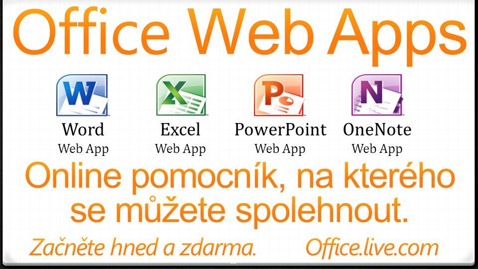 10 Word Web App Excel Web App PowerPoint Web App OneNote Web App