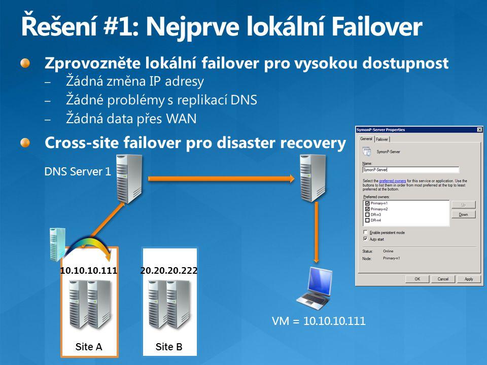 10.10.10.111 DNS Server 1 VM = 10.10.10.111 Site ASite B 20.20.20.222