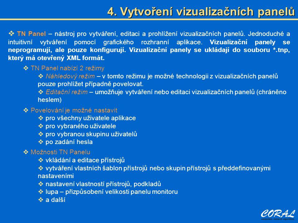  TN Panel – nástroj pro vytváření, editaci a prohlížení vizualizačních panelů. Jednoduché a intuitivní vytváření pomocí grafického rozhranní aplikace