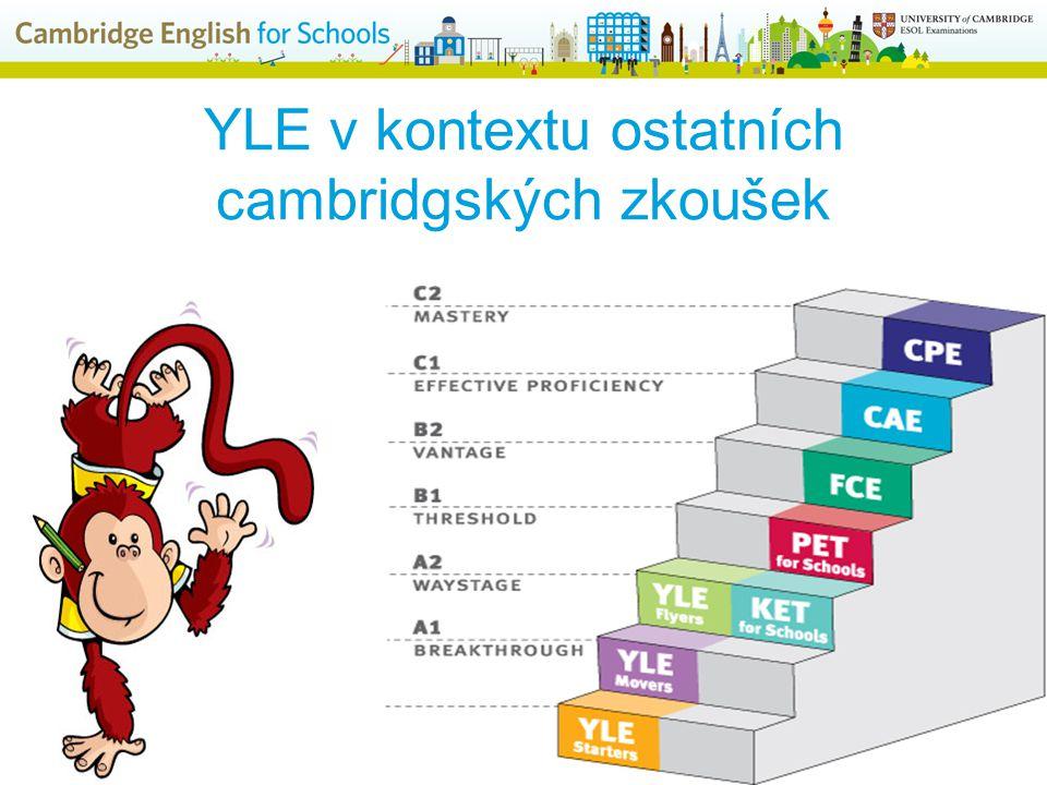 YLE v kontextu ostatních cambridgských zkoušek