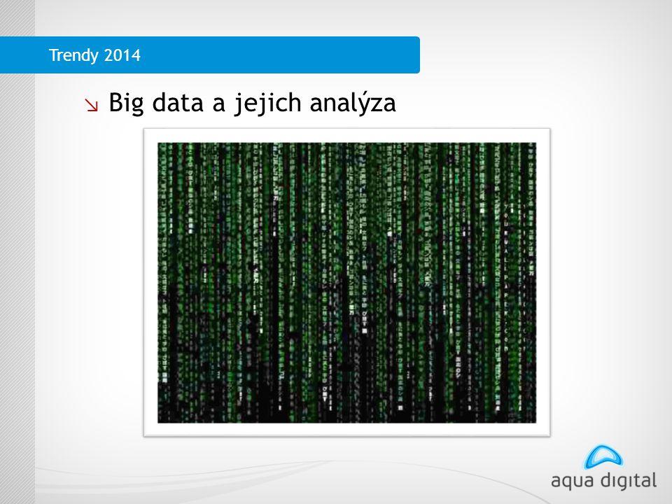 ↘ Big data a jejich analýza Trendy 2014