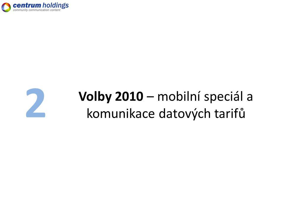 Volby 2010 – mobilní speciál a komunikace datových tarifů 2