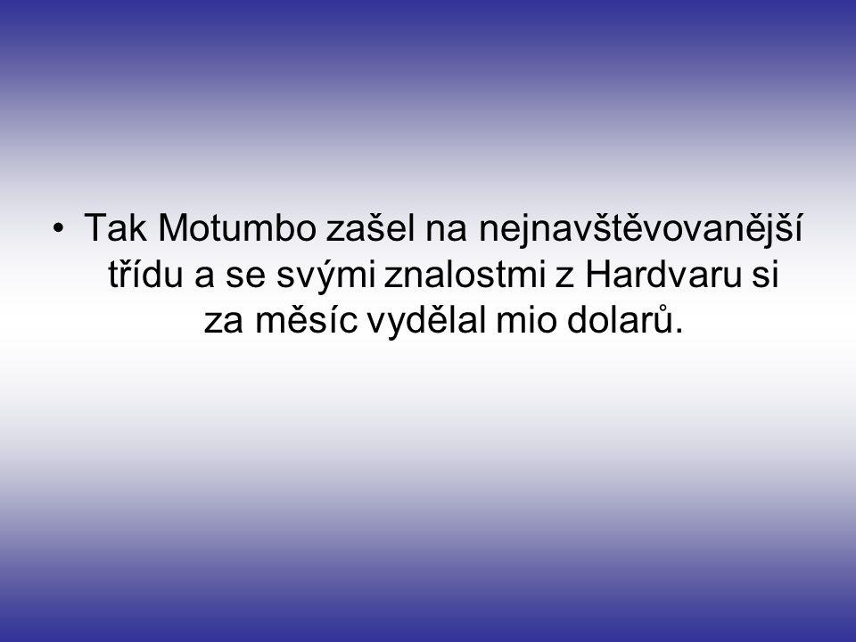 Otec už začínal být zoufalý a už vymýšlel poslední plán: Motumbo ho musí mít metr.