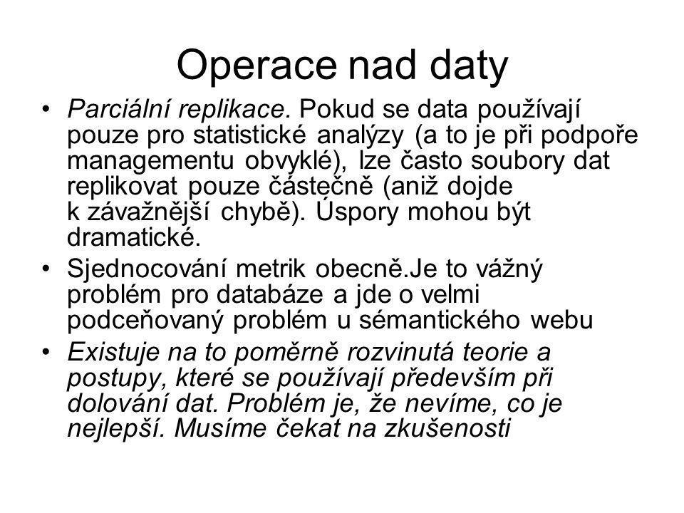 Operace nad daty Parciální replikace.
