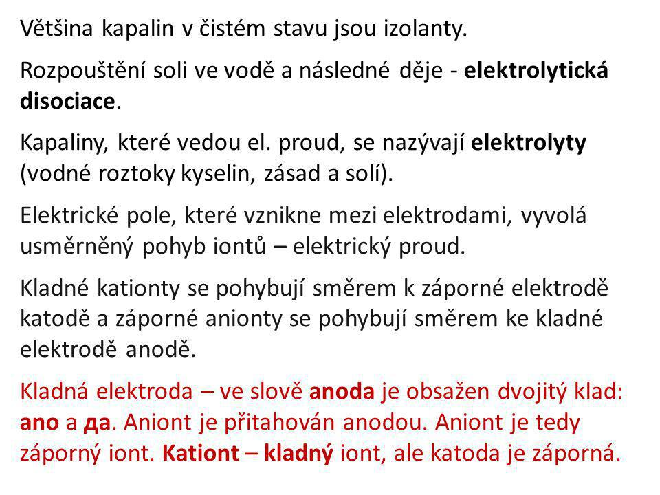 Na elektrodách odevzdají ionty své náboje a vyloučí se v podobě atomů či molekul.