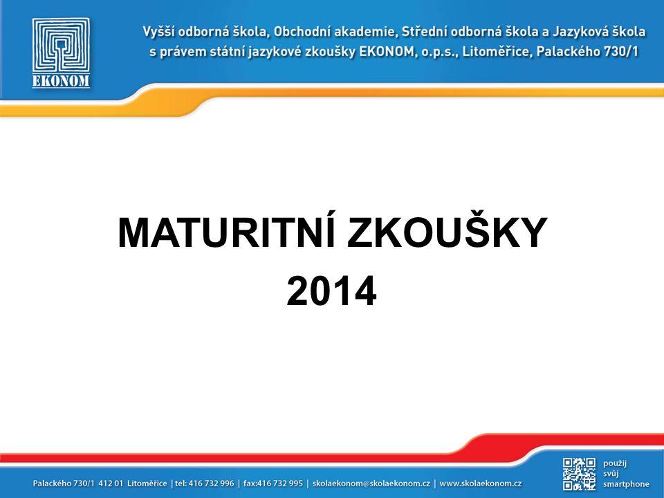 MATURITNÍ ZKOUŠKY 2014