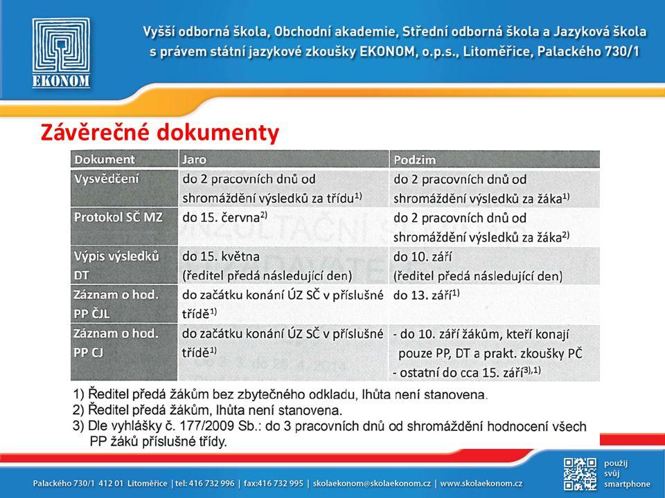 Závěrečné dokumenty