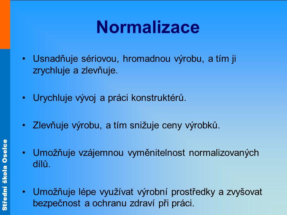 Střední škola Oselce Státní normy ČSN – platí na celém území státu.