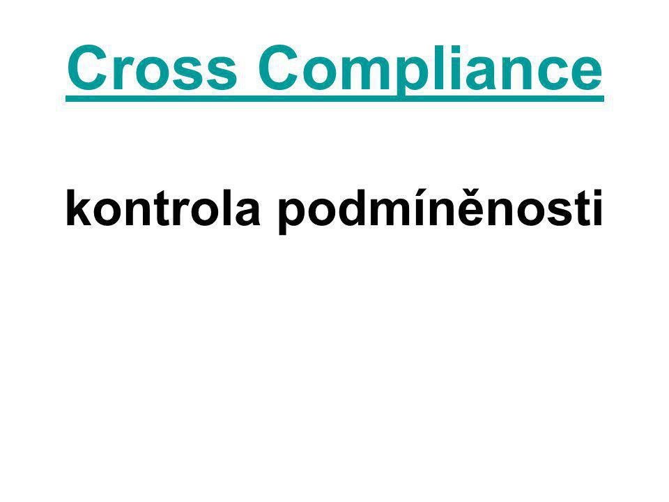 V České republice platí od 1.1.2009 kontrola podmíněnosti.