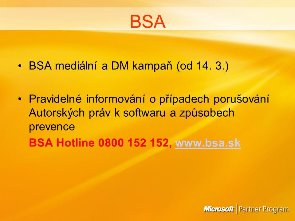 BSA BSA mediální a DM kampaň (od 14.