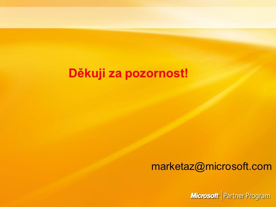 Děkuji za pozornost! marketaz@microsoft.com