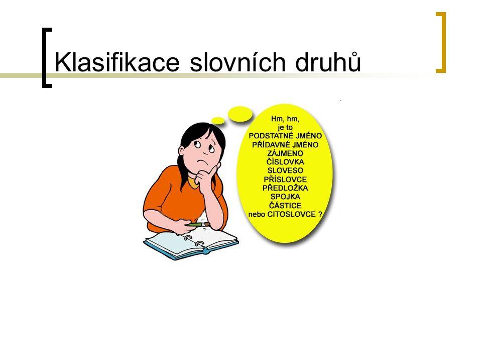 Klasifikace slovních druhů