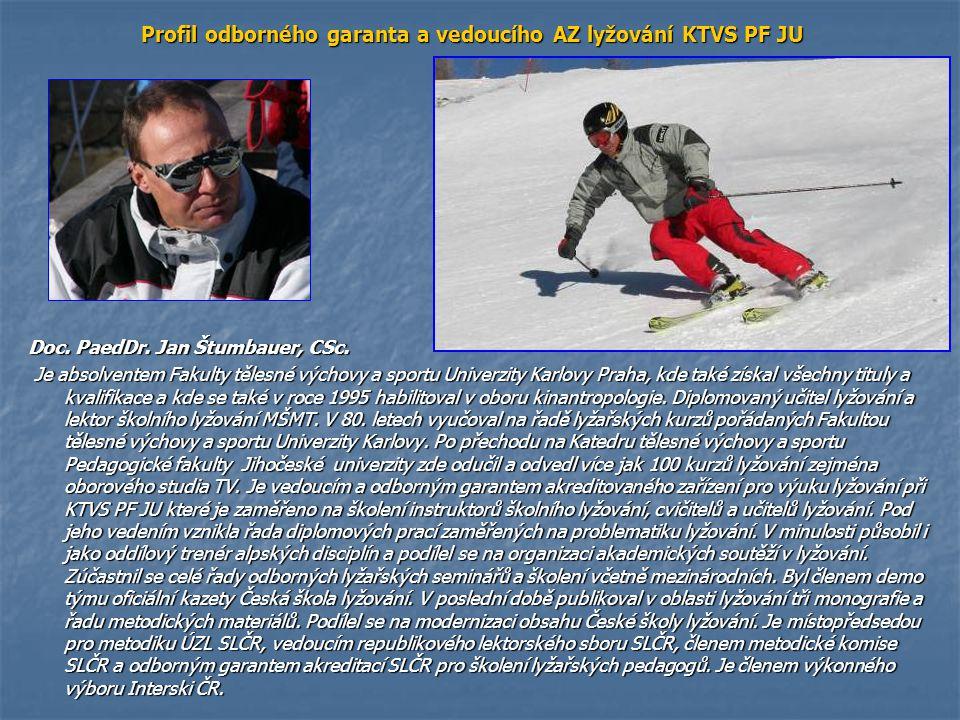 Odborný garant AZ je autorem nebo spoluautorem následující lyžařské literatury: 1) BENEŠOVÁ, D., ŠTUMBAUER, J.