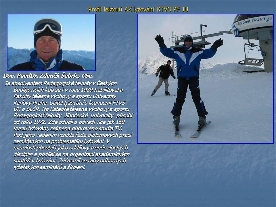 Publikační činnost v oblasti lyžování - doc.PaedDr.