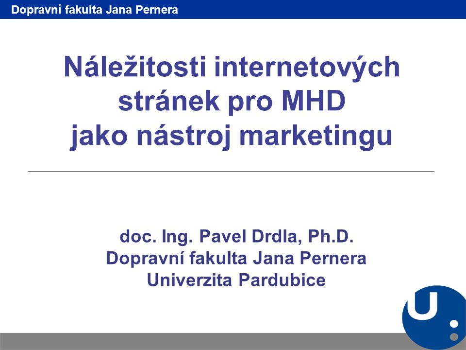 Náležitosti internetových stránek pro MHD jako nástroj marketingu doc.