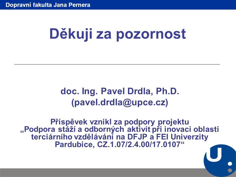 Děkuji za pozornost doc. Ing. Pavel Drdla, Ph.D.