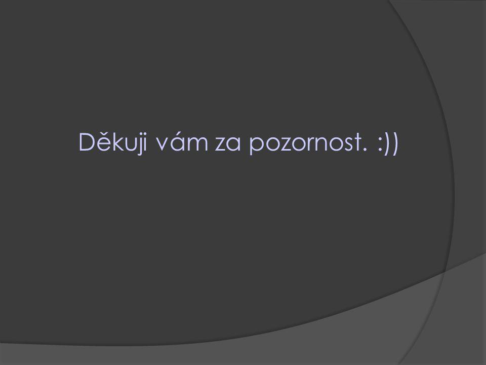 Děkuji vám za pozornost. :))