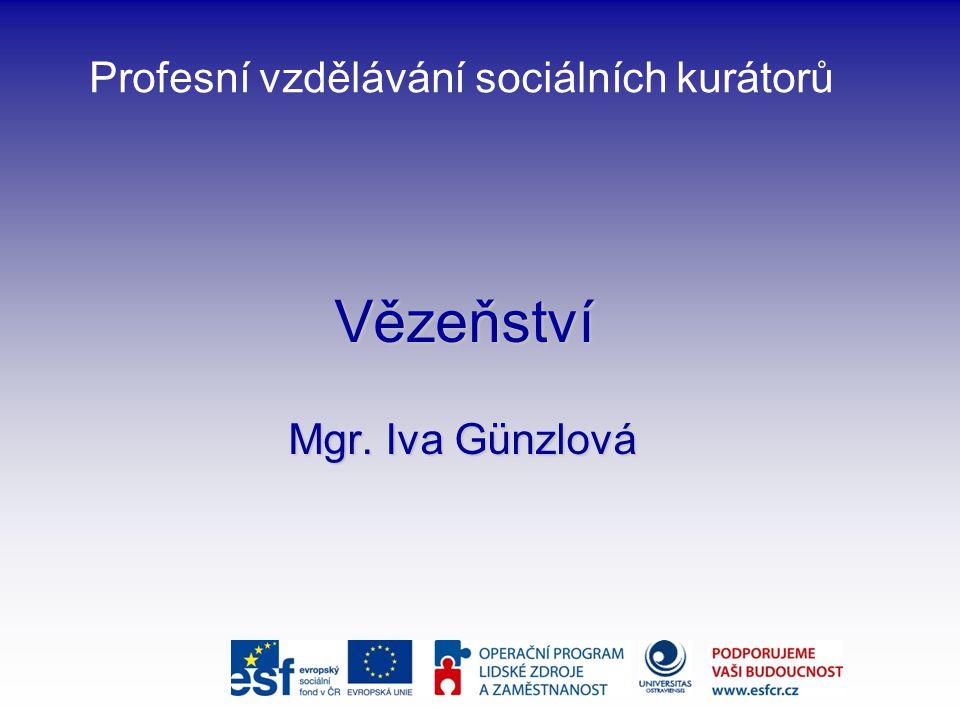 Profesní vzdělávání sociálních kurátorů Vězeňství Mgr. Iva Günzlová