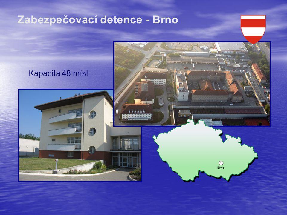 Zabezpečovací detence - Brno Kapacita 48 míst