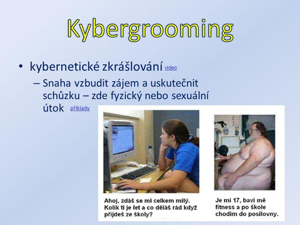 kybernetické zkrášlování – Snaha vzbudit zájem a uskutečnit schůzku – zde fyzický nebo sexuální útok příklady video
