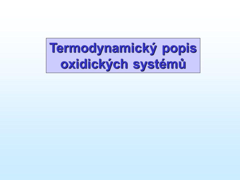 Termodynamický popis oxidických systémů
