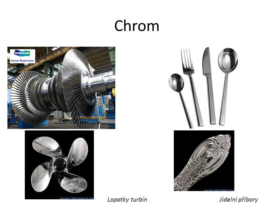 Chrom Lopatky turbínJídelní příbory