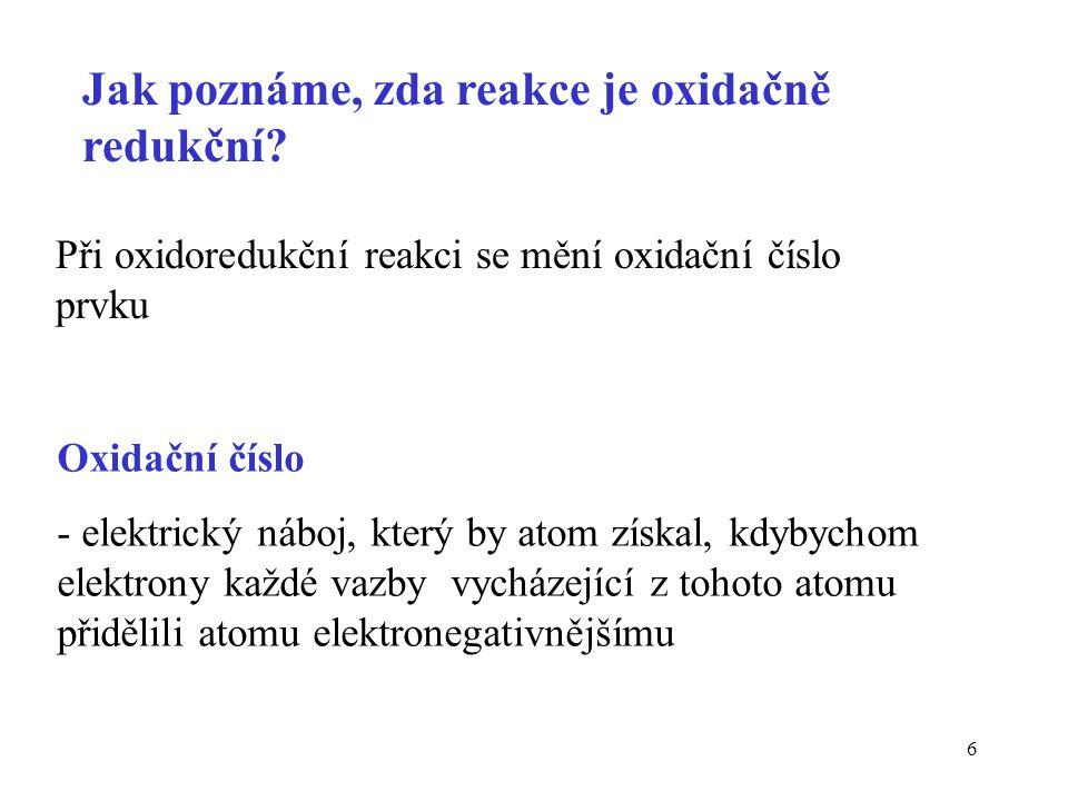 47 Oxidační čísla uhlíku v modelových živinách Průměrné ox.č.