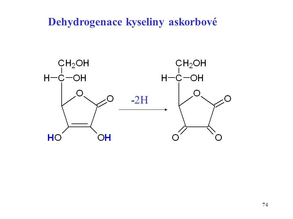 74 Dehydrogenace kyseliny askorbové -2H