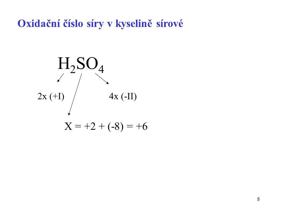 29 Hodnoty redoxních potenciálů při koncentracích jiných než standardních (jednotkových) Nernstova-Petersova rovnice aktuální koncentrace oxidované [Ox] a redukované [Red] formy elektrodový potenciál poločlánku za nestandardního stavu počet přenášených elektronů Pár: a Ox + n e -  c Red Faradayova konstanta 96 500 C/mol
