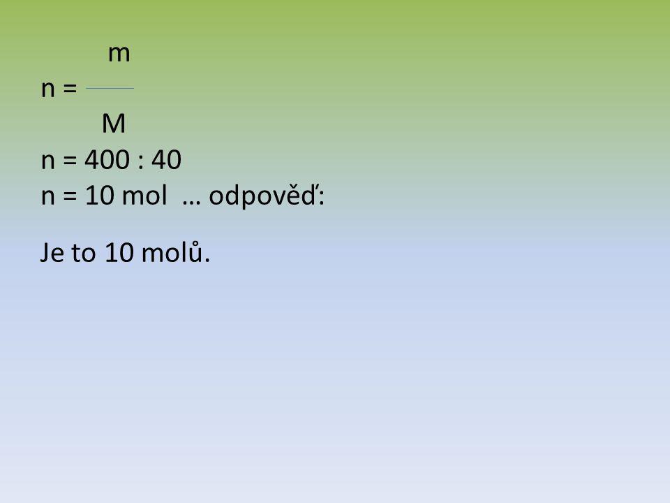 Zjistěte z tabulky, o jaký prvek se jedná, když víte, že 7 molů má hmotnost 161g.
