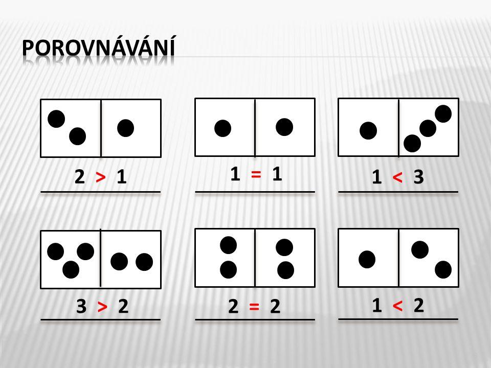 2 > 1 2 = 2 3 > 2 1 < 3 1 = 1 1 < 2 8
