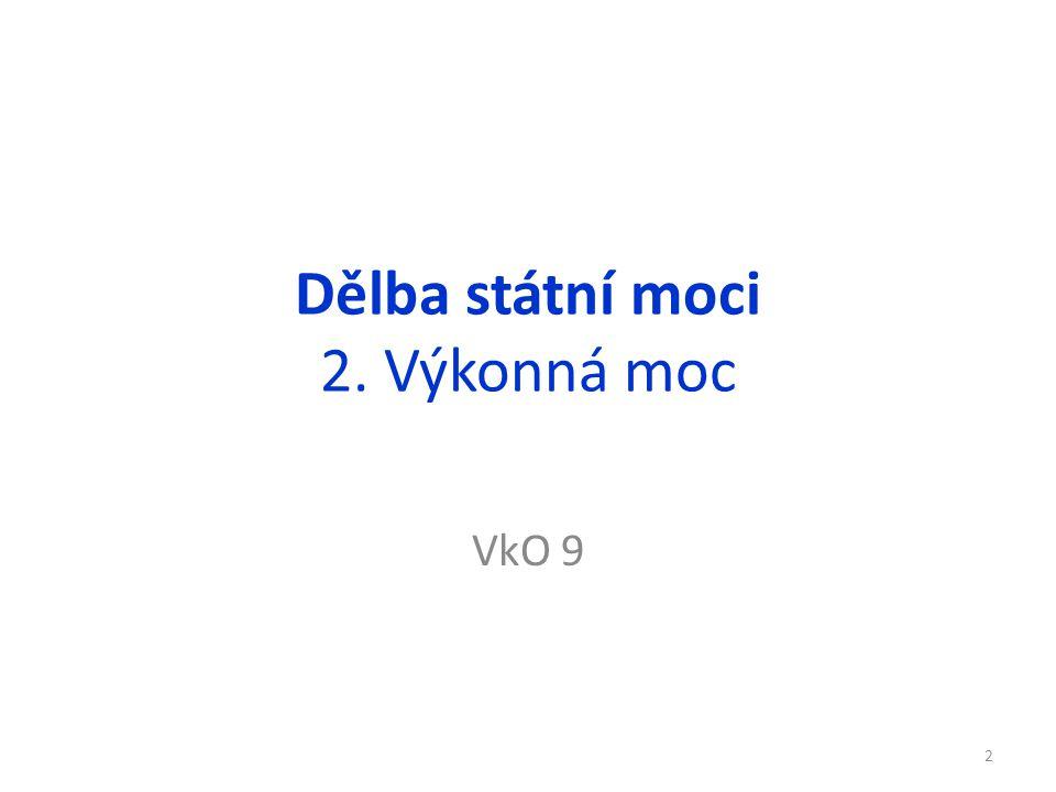 Řešení 1.Orgány státní moci ČR a jejich úkoly jsou definovány v Ústavě ČR.