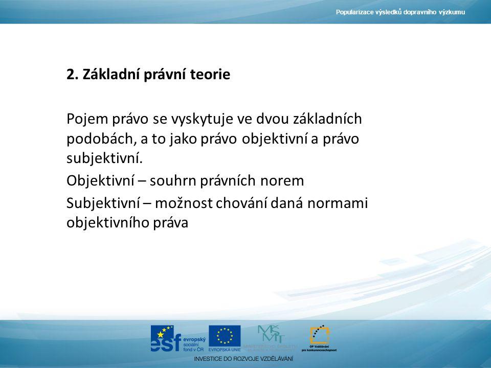 Popularizace výsledků dopravního výzkumu 2.