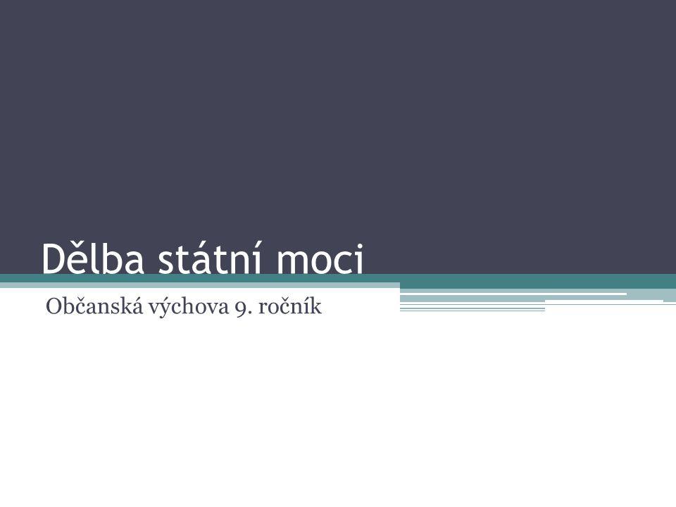 Dělba státní moci Občanská výchova 9. ročník
