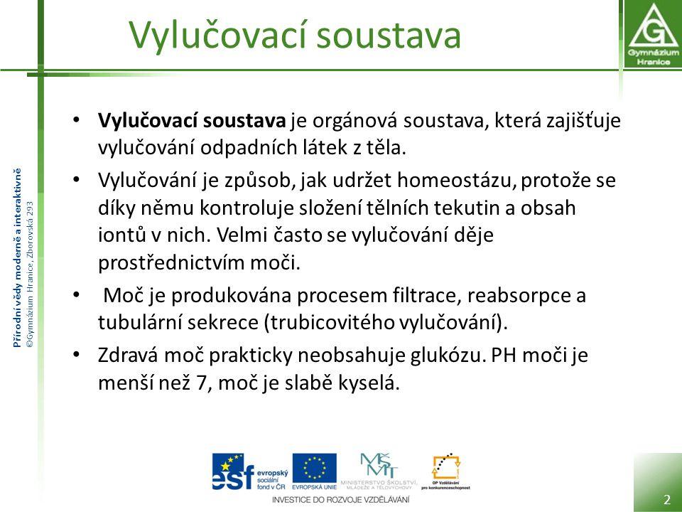 Přírodní vědy moderně a interaktivně ©Gymnázium Hranice, Zborovská 293 Vylučovací soustava Vylučovací soustava je orgánová soustava, která zajišťuje v