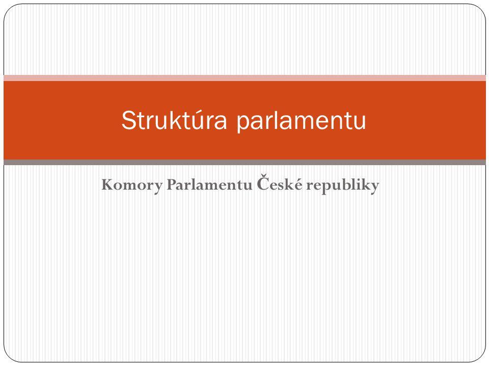 Komory Parlamentu Č eské republiky Struktúra parlamentu