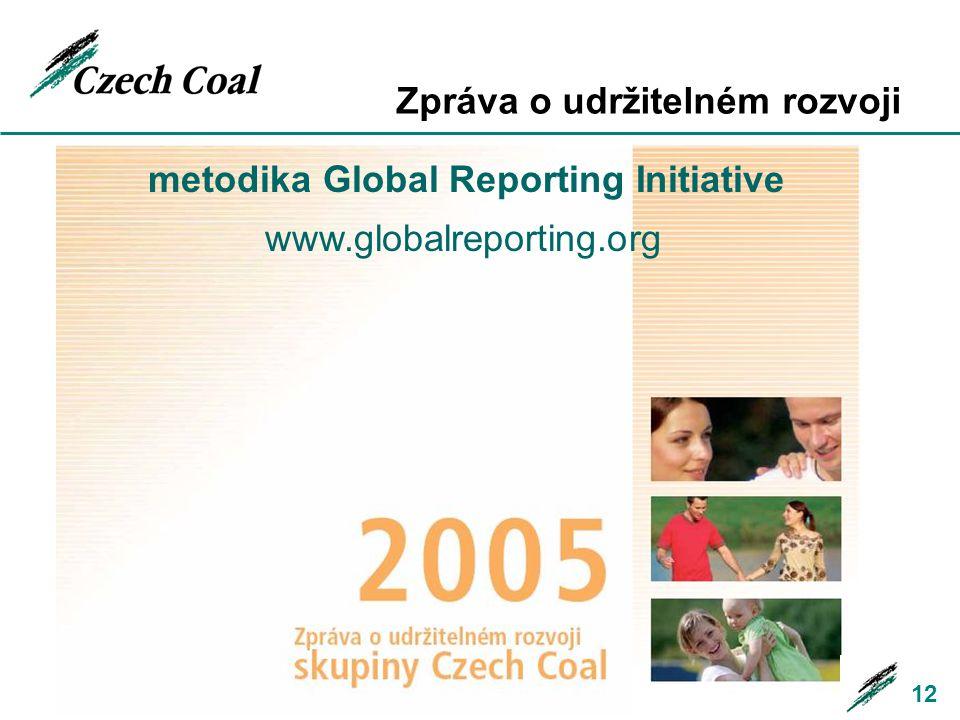 Zpráva o udržitelném rozvoji 12 metodika Global Reporting Initiative www.globalreporting.org