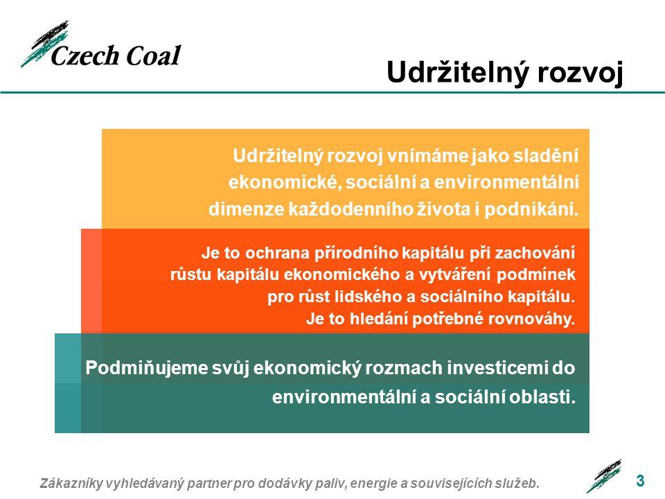 Proměna oboru 4 Objem těžby: Zaměstnanost: 75 mil t 48 mil t 2004 1991 37,000 13,000 2004 1991 Zákazníky vyhledávaný partner pro dodávky paliv, energie a souvisejících služeb.