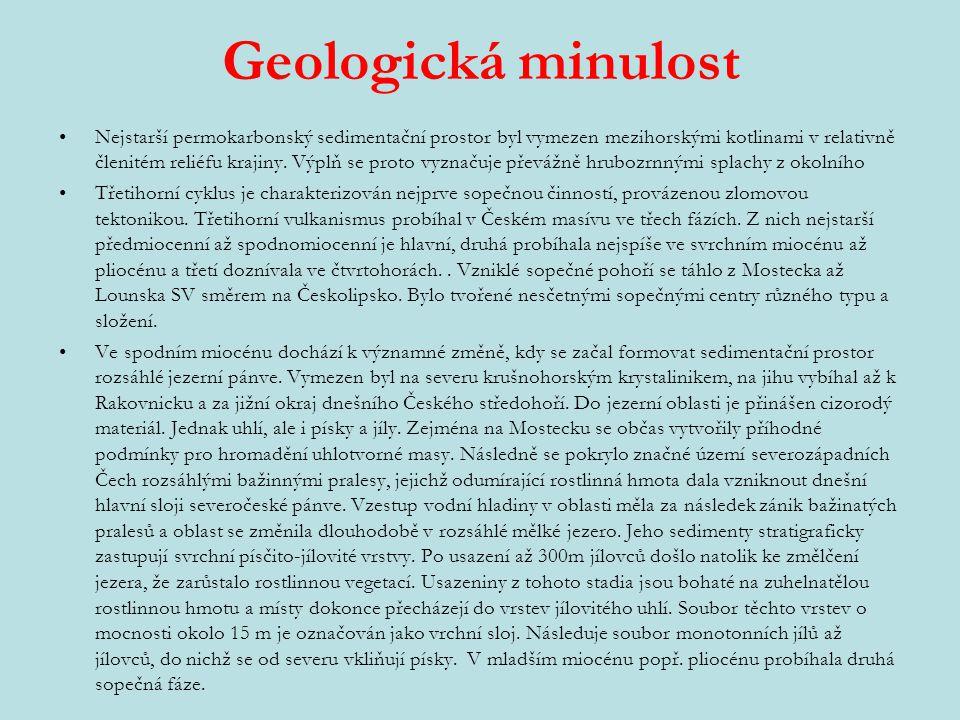 Geologická minulost Nejstarší permokarbonský sedimentační prostor byl vymezen mezihorskými kotlinami v relativně členitém reliéfu krajiny.