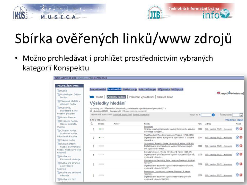 logo oborové brány Sbírka ověřených linků/www zdrojů Možno prohledávat i prohlížet prostřednictvím vybraných kategorií Konspektu