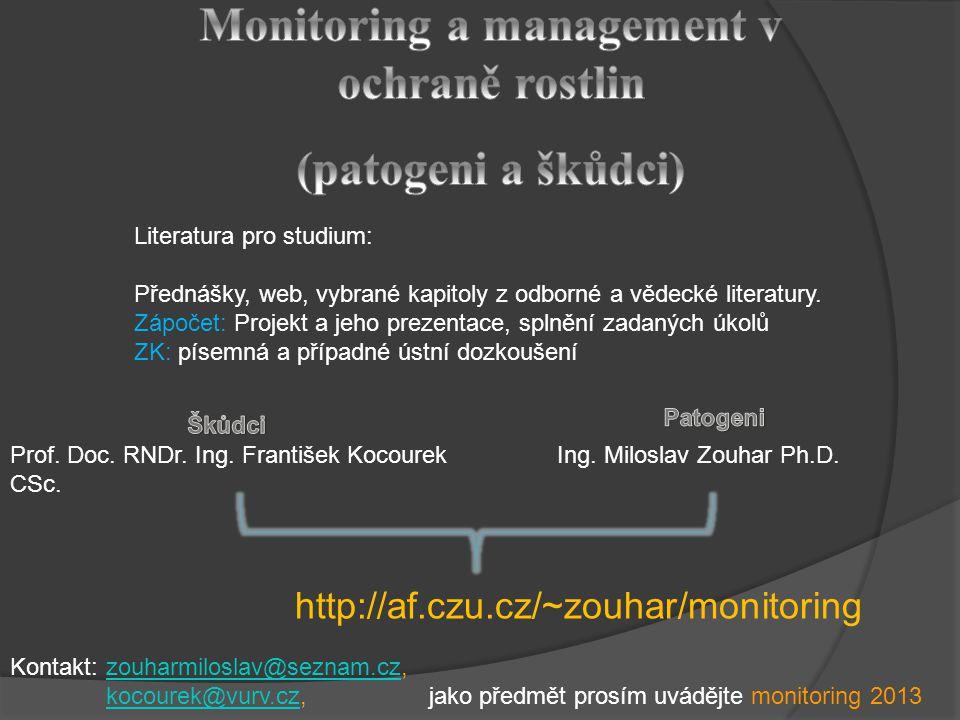 Literatura pro studium: Přednášky, web, vybrané kapitoly z odborné a vědecké literatury.