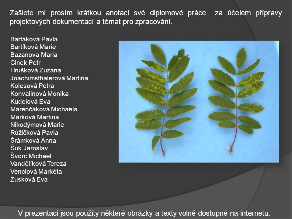 Odhady pomocí PC modelů Pro nacvičení odhadu pokryvnosti listoví lze využít jednoduchých počítačových modelů, například Diseases nebop agrevo.