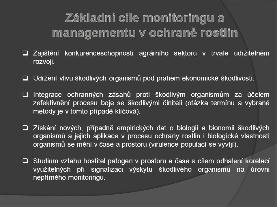 Průzkum Diagnostika škodlivého činitele Jaká by měla být.