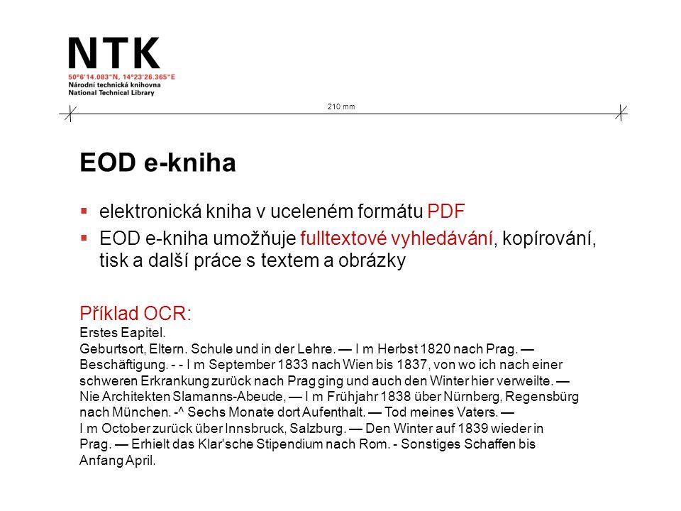 EOD e-kniha  elektronická kniha v uceleném formátu PDF  EOD e-kniha umožňuje fulltextové vyhledávání, kopírování, tisk a další práce s textem a obrá