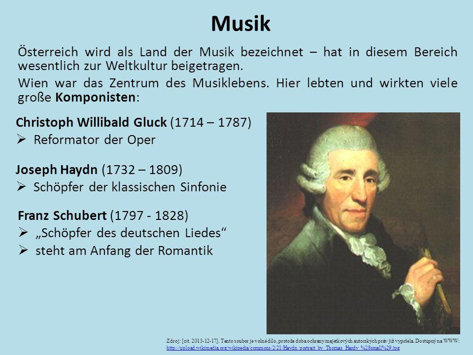 Österreich wird als Land der Musik bezeichnet – hat in diesem Bereich wesentlich zur Weltkultur beigetragen. Wien war das Zentrum des Musiklebens. Hie